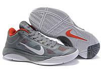 Мужские кроссовки Nike Zoom Hyperfuse Low (Hf low_02), серые с оранжевым