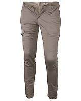 Брюки бежевые YES MISS, узкие с карманами по бокам, демисезонные, размер XS(24-25)