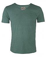 22796 мужская зеленая футболка с мысом Tom Tailor
