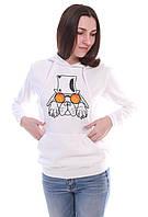 Стильна жіноча худі білого кольору ArtDog, фото 1