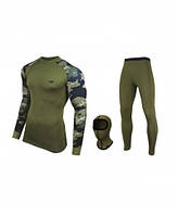 Комплект армейского мужского тактического термобелья Radical Shooter (original), теплое, зимнее, цвет хаки
