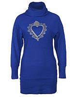 22855 Туника синяя с вышивкой женская Yu.k. by S.G.