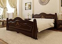 Кровать деревянная Мальва из натурального дерева двуспальная, фото 1
