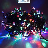Светодиодная гирлянда String нить (линза)  RGBW на черном проводе 100LED 10м