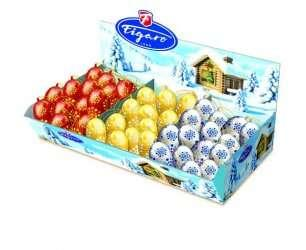 Шоколадные конфеты 10,5г Figaro (игрушка на ёлку)