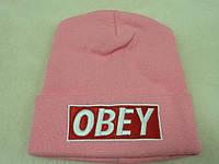 Розовая двойная шапка
