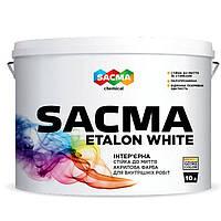 SACMA ETALON White Інтер'єрна стійка до миття акрилова фарба(10 л)