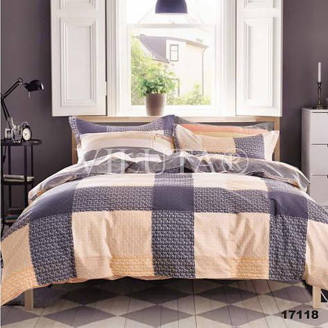 17118 Полуторное постельное белье ранфорс Viluta, фото 2