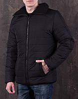 Стеганная мужская черная куртка