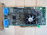Видеокарта бу Matrox 906-04 REV A Dual AGP VGA Video Card 32 MB (2 xVGA), фото 1