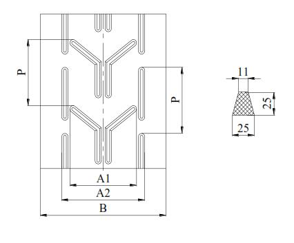 Шевронная лента А33 ARTEGO
