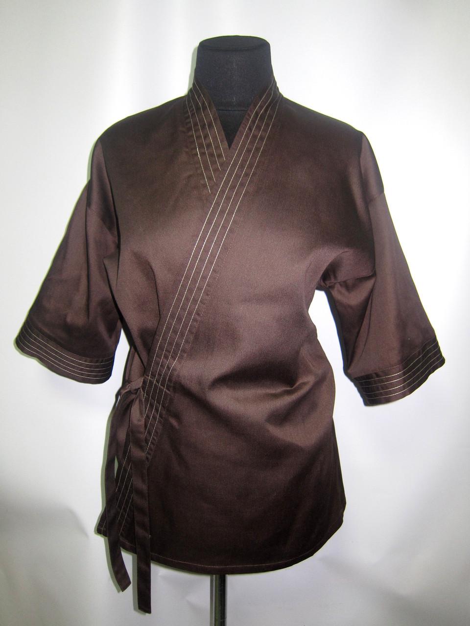 Кимоно суши повара коричневое Atteks - 00910