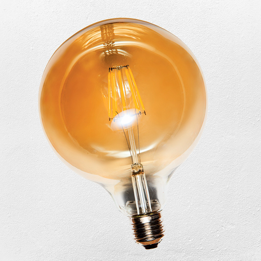 COW лампа led G125 / 8W Amber 2300K  IC ( сапфировой нитью)