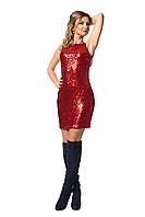 Блестящее платье с пайетками и открытой спиной