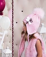 Комплект для девочки с бантиком (шапка/снуд), фото 1