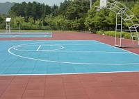 Резиновое покрытие для школьных спортивных залов. Гумові плити Rubeco