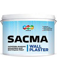 SACMA Wall plaster акрилова фінішна шпаклівка для внутрішніх робіт(10 л/17 кг)