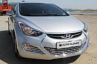 Хром накладки на фары Hyundai Elantra MD 2010-2014 (Autoclover B699), фото 1