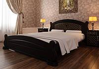 Кровать деревянная Женева из натурального дерева двуспальная, фото 1