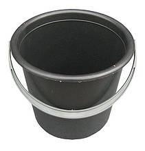 Ведро пластиковое черное 5 литров черное