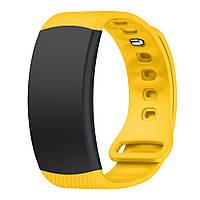 Силиконовый ремешок для фитнес браслета Samsung Gear Fit 2 / Fit 2 Pro (SM-R360 / R365) - Yellow L