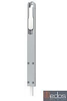 Шпингалет дверной, длинный 225х22х8 мм, серебро (RAL 9006)