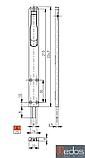 Шпингалет дверной, длинный 225х22х8 мм, черный (RAL 9005), фото 2