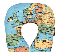Декоративная стильная Подушка для путешествий Карта 16J074