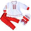 Святковий костюм для дівчаток червоний