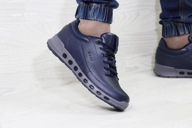 cb7acd58d54dcb Чоловічі зимові кросівки 3739 Ecco Biom темно-сині