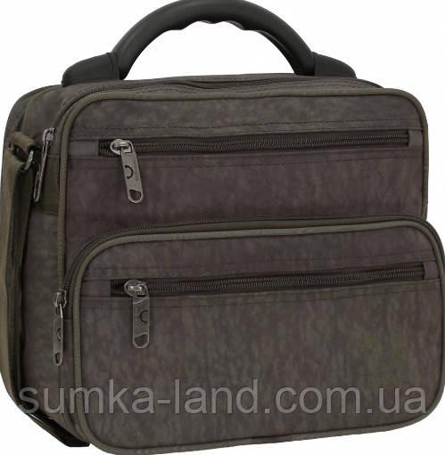 Мужская деловая сумка Bagland Mr.Braun 8 л цвет хаки 25*28*11 см