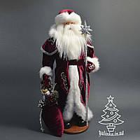 Дед Мороз под елку  53 см серебряный посох 0563