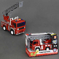 Пожарная машина WY 550 B (36) музыкальная, инерция, свет, в коробке