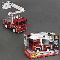 Пожарная машина WY 550 C (36) музыкальная, инерция, свет, в коробке