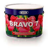 Матовая латексная краска для стен и потолков Bravo 7. 10л