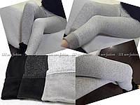 Лосины женские , ткань:турецкий трикотаж на меху цвет:черный ,графит,меланж сбер№1736