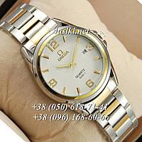 Часы Omega quartz 8266-1 Silver-gold/White