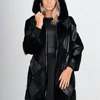 Полушубок-куртка из кожи и натурального меха ондатры от производителя