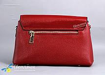 Сумка женская кожаная маленькая 8122  красная, фото 2