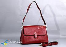 Сумка женская кожаная маленькая 8122  красная, фото 3