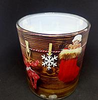 Свеча новогодняя в стакане ароматизированная