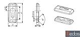 Накладка на цилиндр Merkury, коричневая (RAL 8017), фото 2