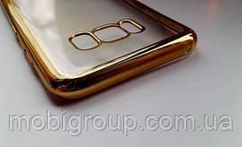 Чехол силиконовый с бампером под металик Samsung S8