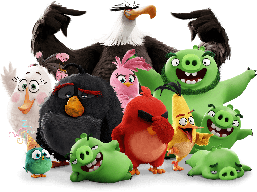 Магніт на холодильник вініловий Angry Birds.Дитячий магнітик на холодильник
