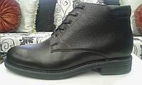 Туфли мужские, натуральная кожа, внутри - войлок; на шнуровке, фото 1