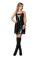 Красивое платье с пайетками, вечернее женское платье