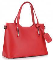 Женская итальянская сумка VITTORIA GOTTI из натуральной кожи, красного цвета