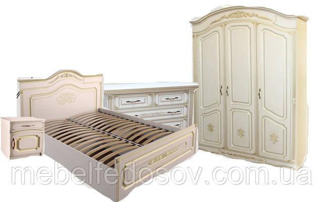 Спальня Гармония МДФ патина (Альфа мебель)