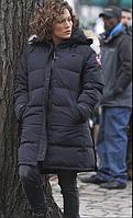 Зимний женский длинный пуховик Canada Goose Shelburne (Корейская копия