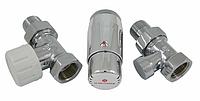 Кран для радиатора отопления Schlosser комплект радиаторный прямой, хром, DN15 GZ 1/2 x GW 1/2